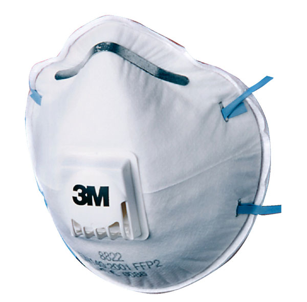 3M 8822 MASK FFP2V (5 PACK)  - 8822SP