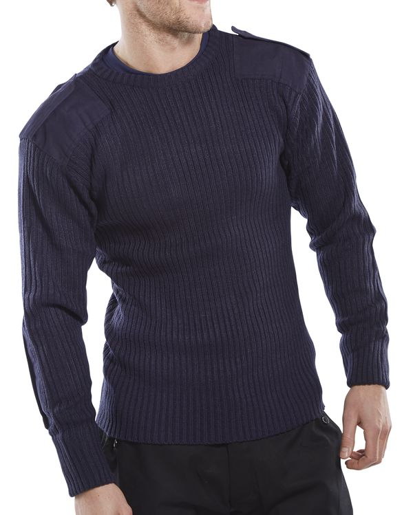 MILITARY STYLE CREW-NECK SWEATER - AMODCN