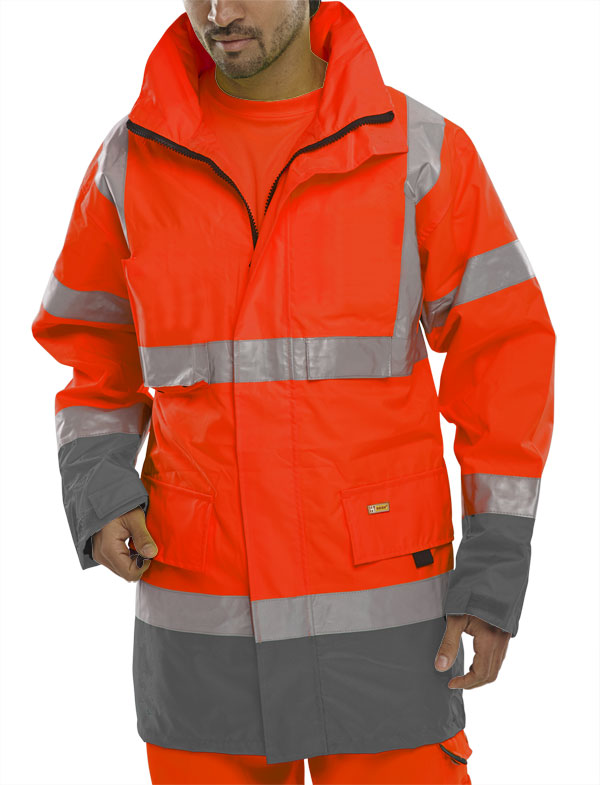 TWO TONE BREATHABLE TRAFFIC JACKET - BD109REGY