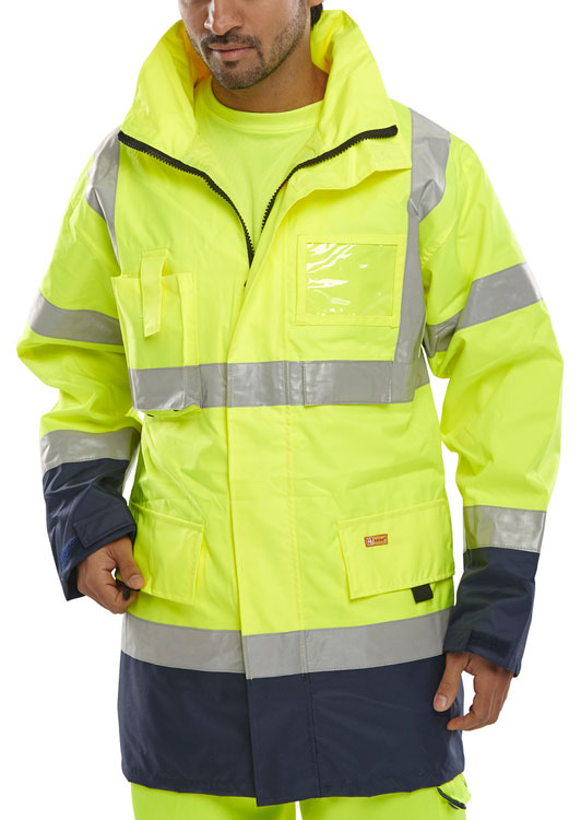 TWO TONE BREATHABLE TRAFFIC JACKET - BD109
