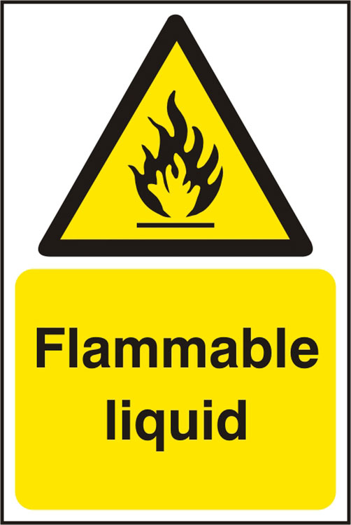 FLAMMABLE LIQUID SIGN - BSS11175