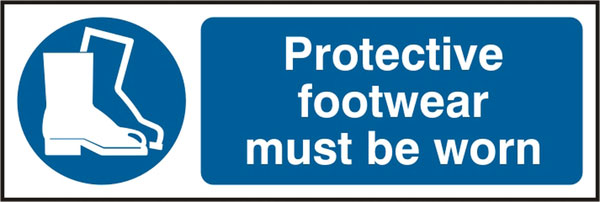 PROTECTIVE FOOTWEAR MUST BE WORN SIGN - BSS11384
