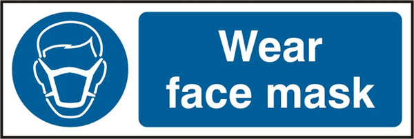 WEAR FACE MASK SIGN - BSS11388