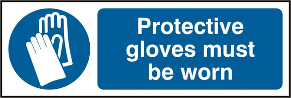PROTECTIVE GLOVES MUST BE WORN SIGN - BSS11393