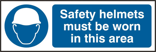 SAFETY HELMETS MUST BE WORN SIGN - BSS11409