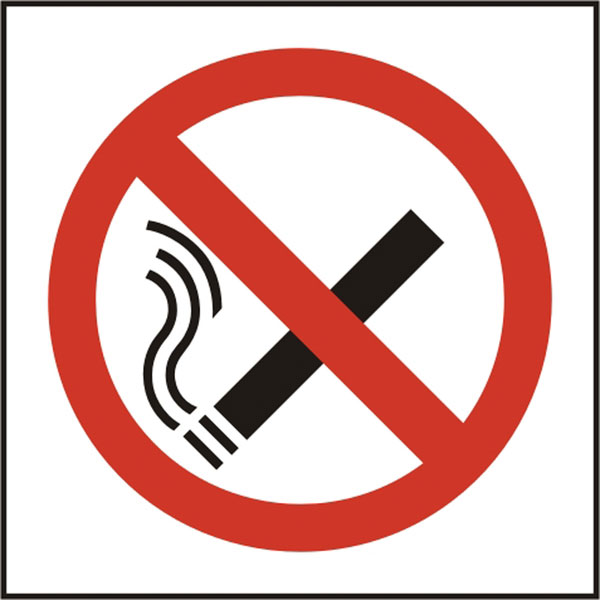 NO SMOKING SYMBOL SIGN - BSS11840
