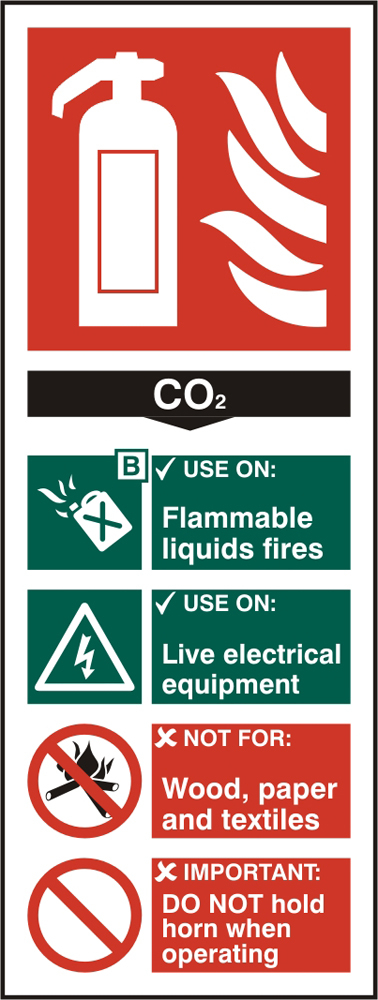 FIRE EXTINGUISHER CO2 SIGN - BSS12310