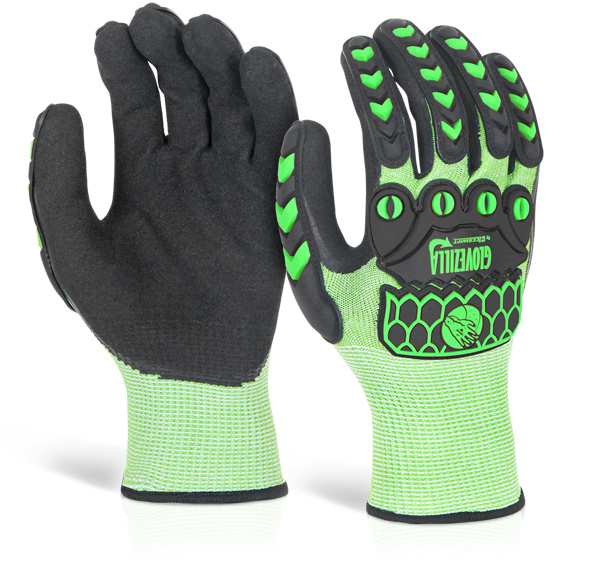 GLOVEZILLA SANDY NITRILE COATED GLOVE - GZ60LG