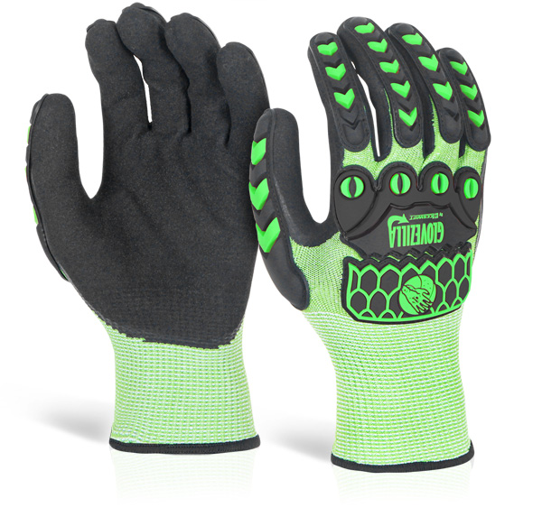 GLOVEZILLA FOAM NITRILE COATED GLOVE - GZ64LG
