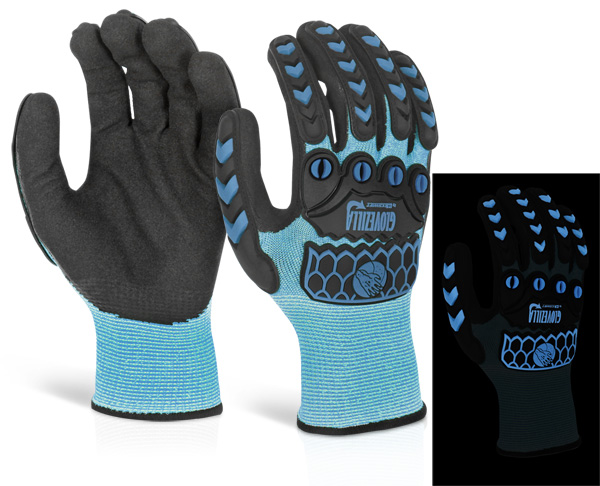 GLOVEZILLA GLOW IN THE DARK FOAM NITRILE GLOVE - GZ66B