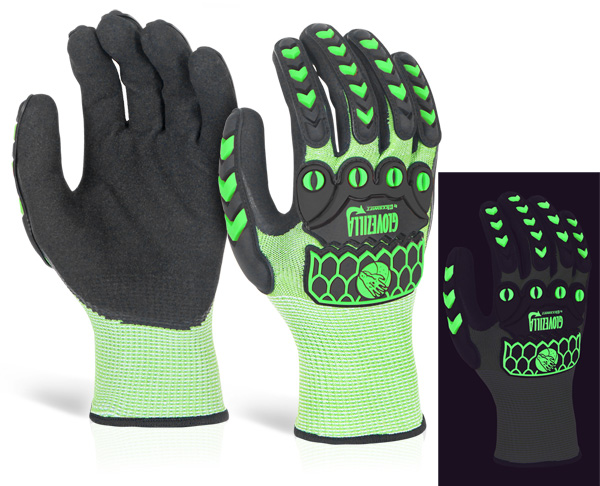 GLOVEZILLA GLOW IN THE DARK FOAM NITRILE GLOVE - GZ66G