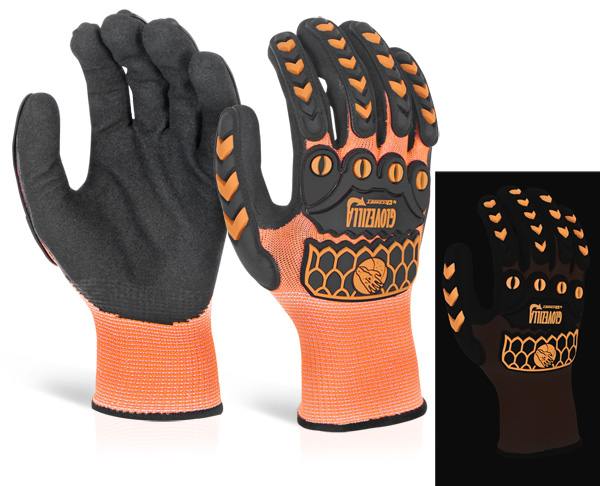 GLOVEZILLA GLOW IN THE DARK FOAM NITRILE GLOVE - GZ66OR