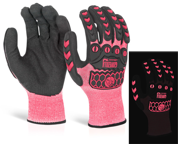 GLOVEZILLA GLOW IN THE DARK FOAM NITRILE GLOVE - GZ66P