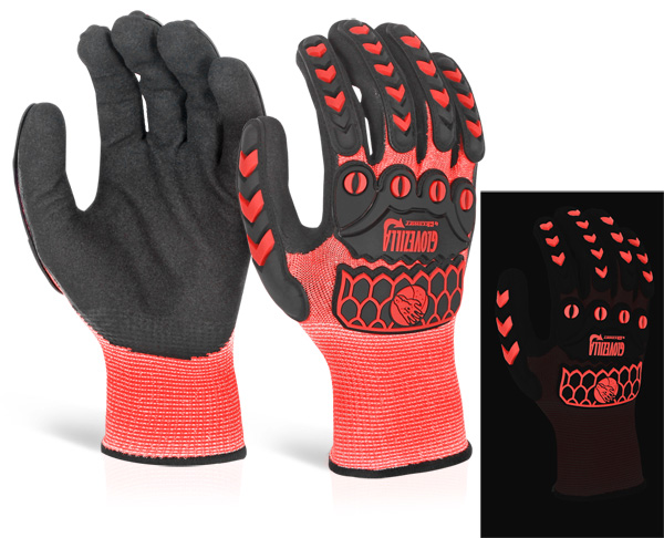 GLOVEZILLA GLOW IN THE DARK FOAM NITRILE GLOVE - GZ66RE