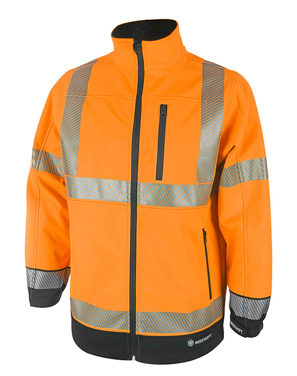 HIVIS TWO TONE SOFTSHELL - HVTT040ORBL