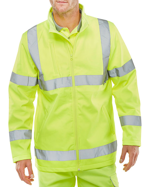 SOFT SHELL LIGHTWEIGHT HI VIZ JACKET - SS20471SY
