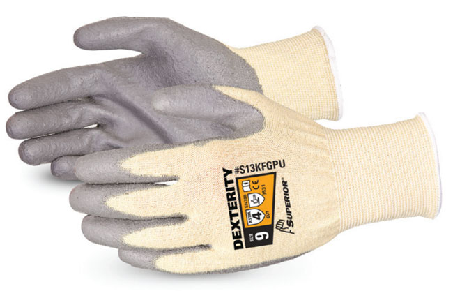 DEXTERITY® PU PALM-COATED CUT-RESISTANT STRING-KNIT GLOVE - SUS13KFGPU