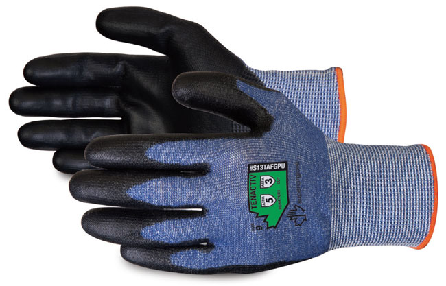 COMPOSITE KNIT CUT-RESISTANT GLOVES WITH BLACK POLYURETHANE PALMS - SUS13TAFGPU