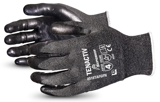 TENACTIV COMPOSITE FILAMENT FIBRE LEVEL-5 CUT-RESISTANT KNIT GLOVE WITH FOAM NITRILE PALMS - SUS18TAFGFN