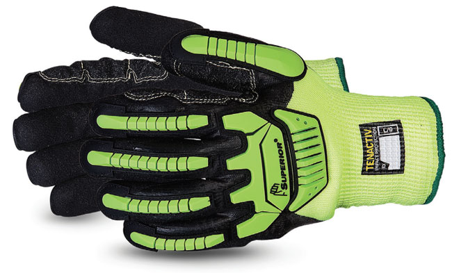 TENACTIV CUT-RESISTANT  ANTI-IMPACT HI-VIZ WINTER GLOVE MADE WITH MICROPORE NITRILE GRIP - SUSHVTPNFBVB