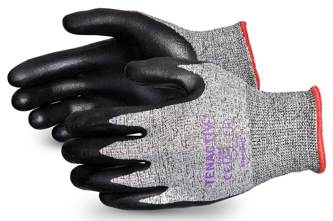 TENACTIV CUT-RESISTANT COMPOSITE KNIT GLOVE WITH FOAM NITRILE PALMS - SUSTAFGFNT