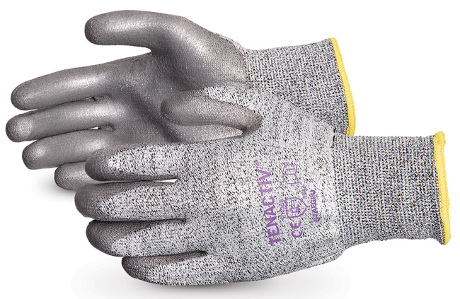 TENACTIV CUT-RESISTANT COMPOSITE KNIT GLOVE WITH PU PALMS - SUSTAFGPU