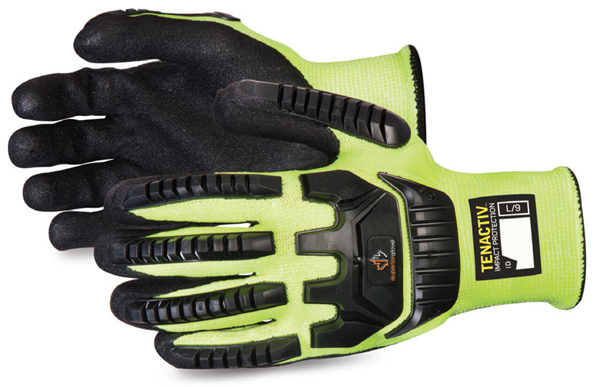 TENACTIV ANTI-IMPACT HI-VIZ GLOVE MADE WITH BLACK WIDOW MICROPORE GRIP - SUSTAGYPNVB